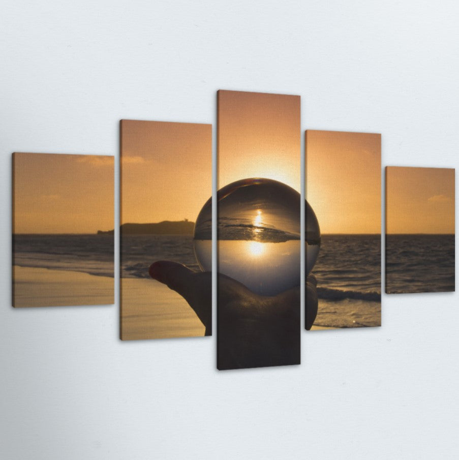 Crystal Sun 5 Piece Canvas