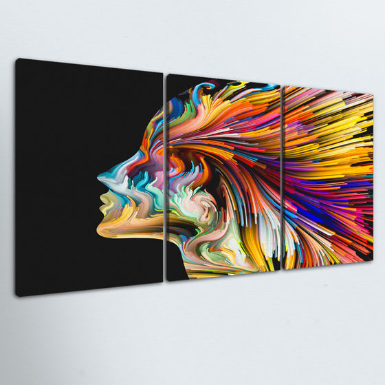 Color Of The Mind 3 Piece Canvas