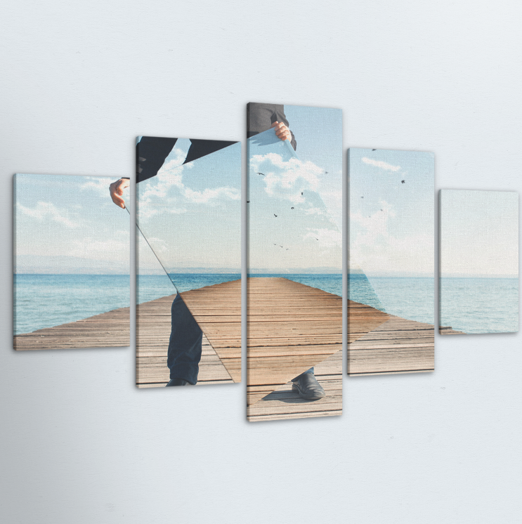 Mirror Illusion 5 Piece Canvas