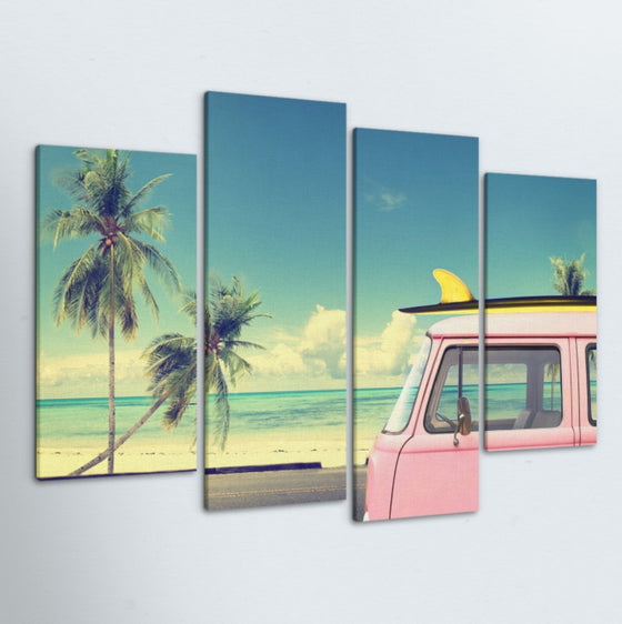 Nomadic Surfer 4 Piece Canvas