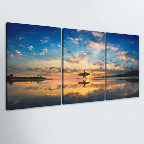 Surfers Paradise 3 Piece Canvas