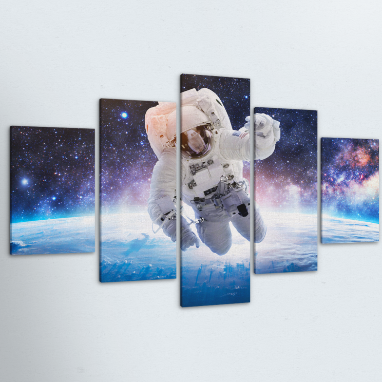 Spaced Out 5 Piece Canvas