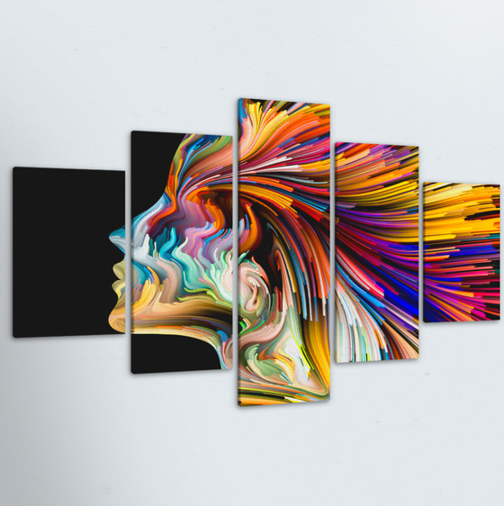 Color Of The Mind 5 Piece Canvas