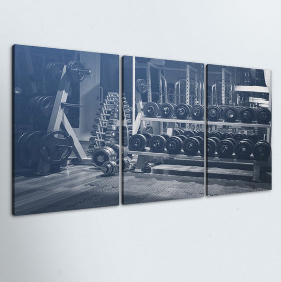 Weight Rack 3 Piece Canvas