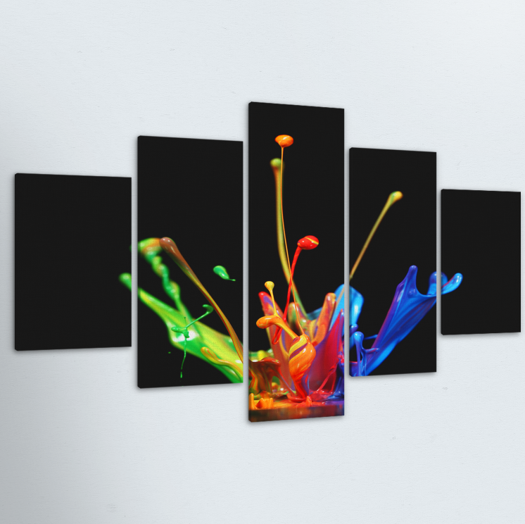 Paint Drop 5 Piece Canvas