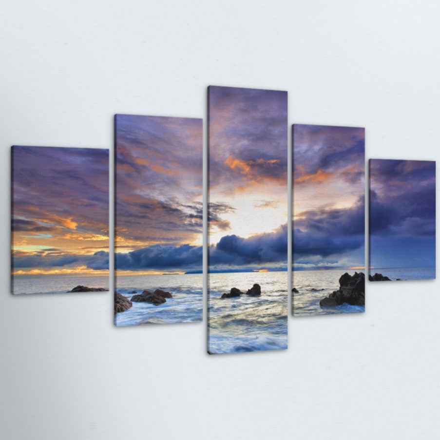 Creeping Clouds 5 Piece Canvas