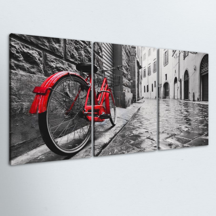 Cobble Stone Road 3 Piece Canvas