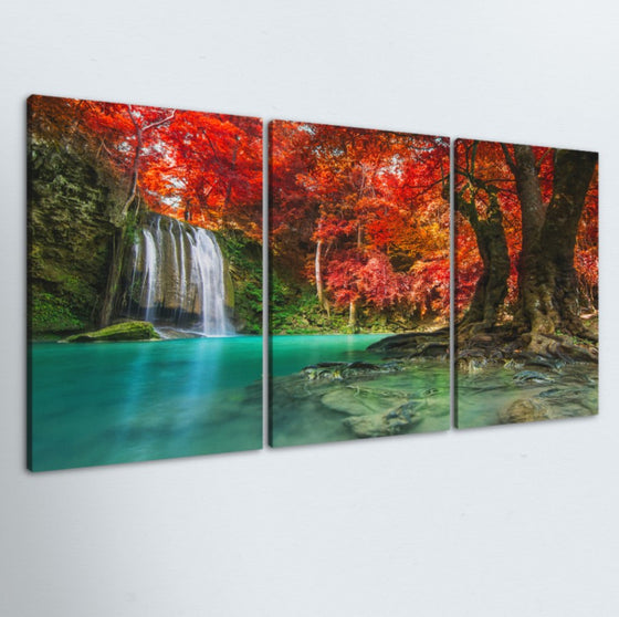 Jungle Oasis 3 Piece Canvas