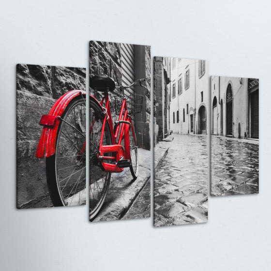 Cobble Stone Road 4 Piece Canvas