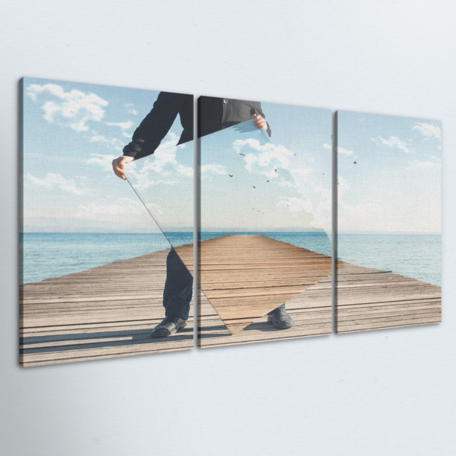 Mirror Illusion 3 Piece Canvas