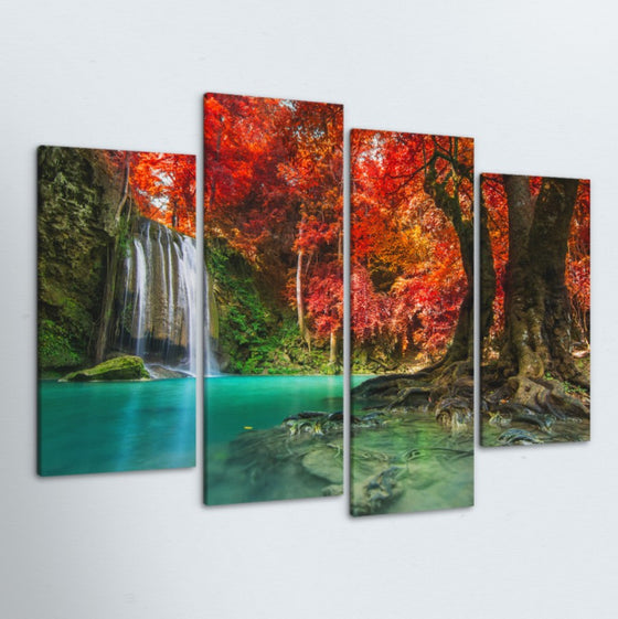 Jungle Oasis 4 Piece Canvas