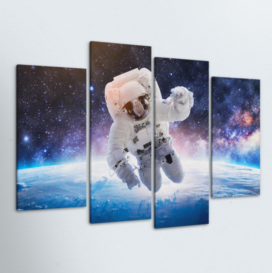 Spaced Out 4 Piece Canvas