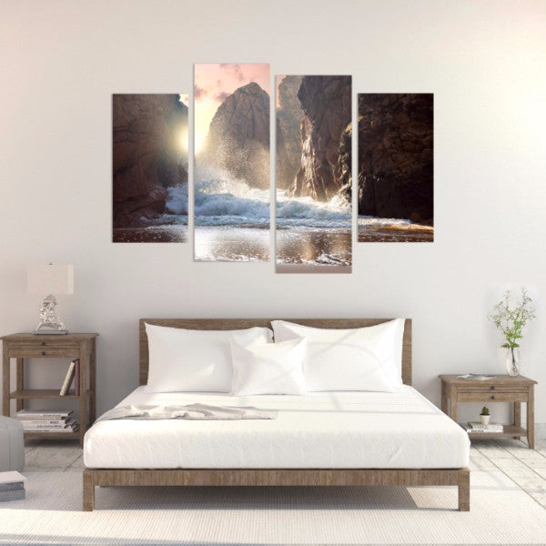 Power Of The Ocean 4 Piece Canvas