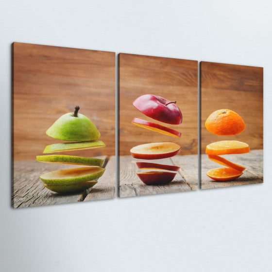 Sliced Fruit 3 Piece Canvas