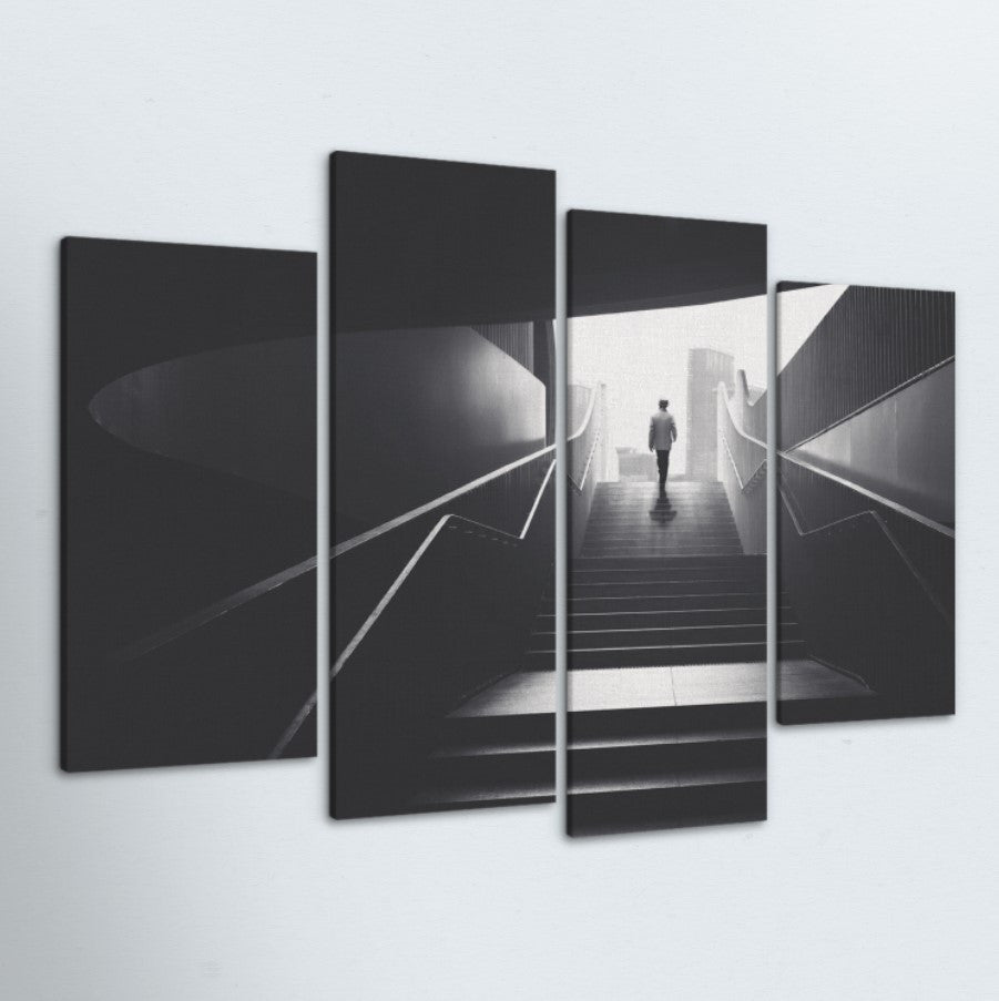 Staircase 4 Piece Canvas
