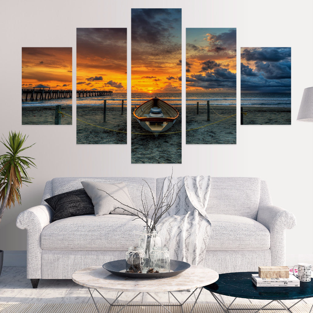 Colorful Skys 5 Piece Canvas