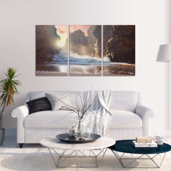 Power Of The Ocean 3 Piece Canvas
