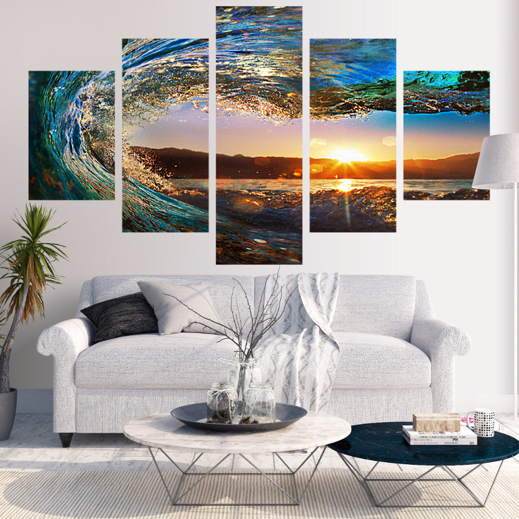 Eye Of The Wave 5 Piece Canvas