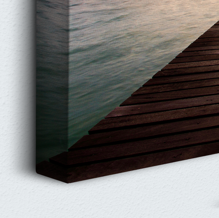 Sunset Dock 5 Piece Canvas