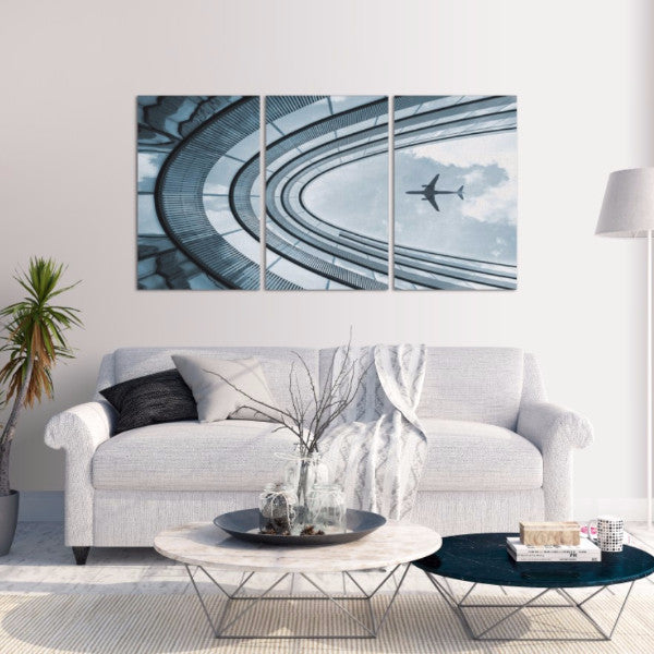 Plane 3 Piece Canvas