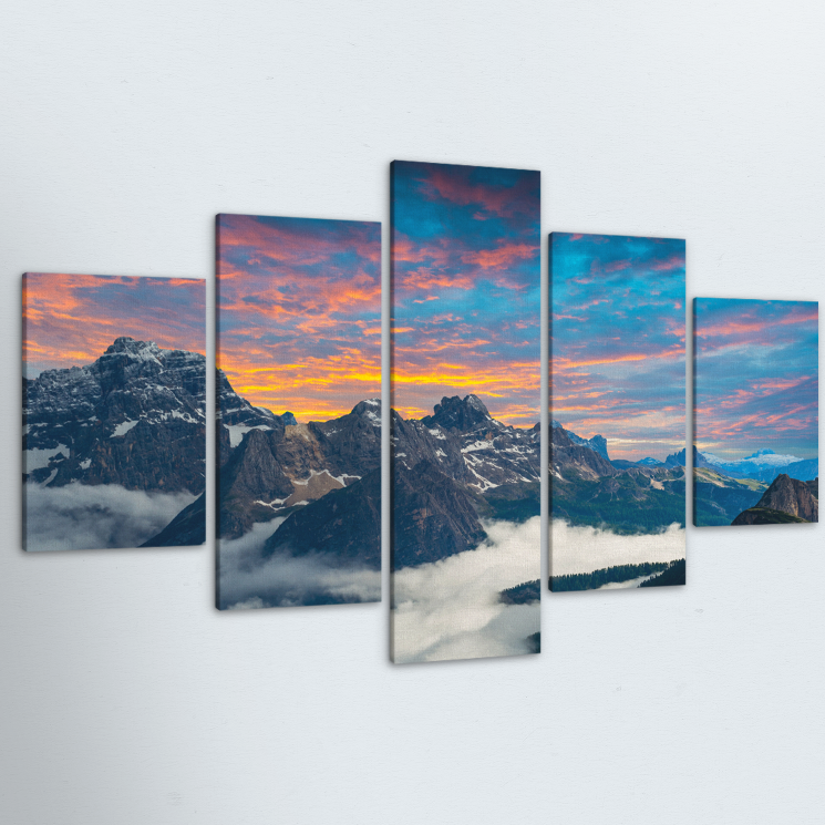 Candy Mountain 5 Piece Canvas