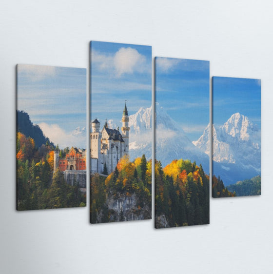 Castle 4 Piece Canvas
