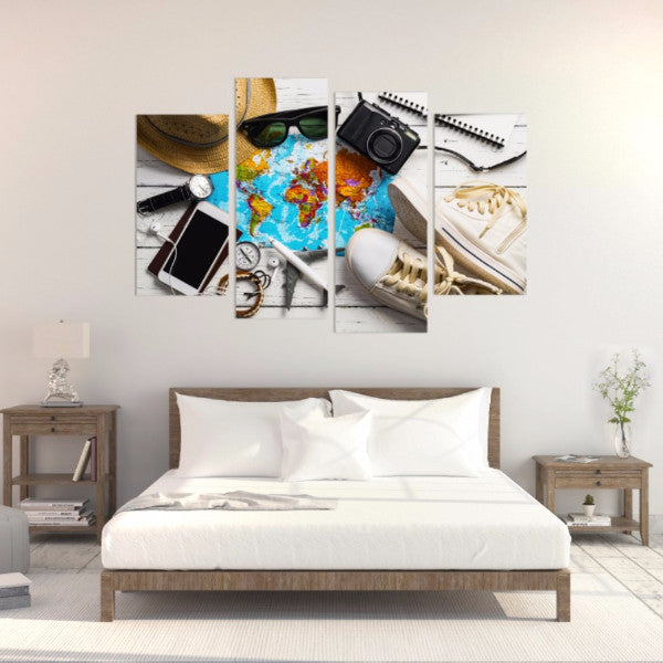 Life On The Road 4 Piece Canvas