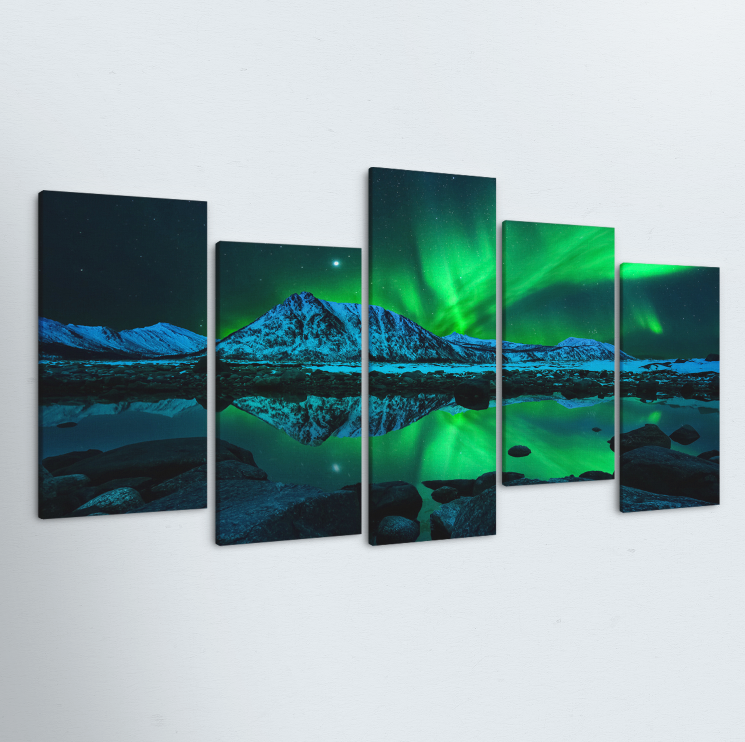 Aurora Borealis 5 Piece Canvas