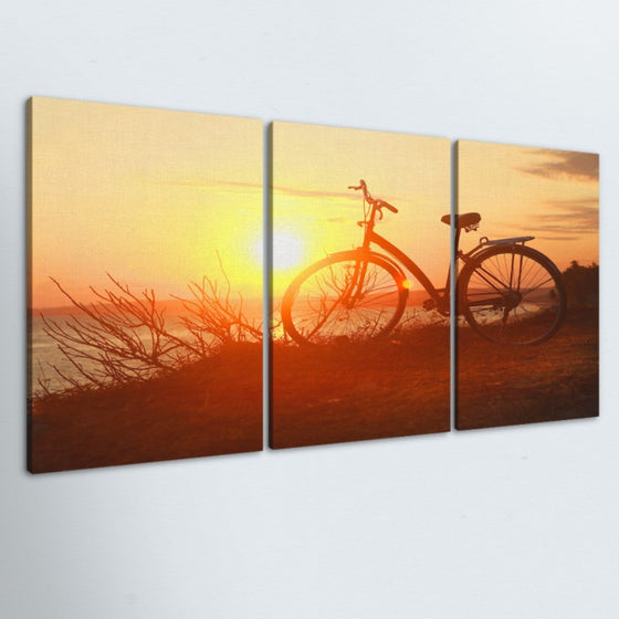 Sunset Ride 3 Piece Canvas
