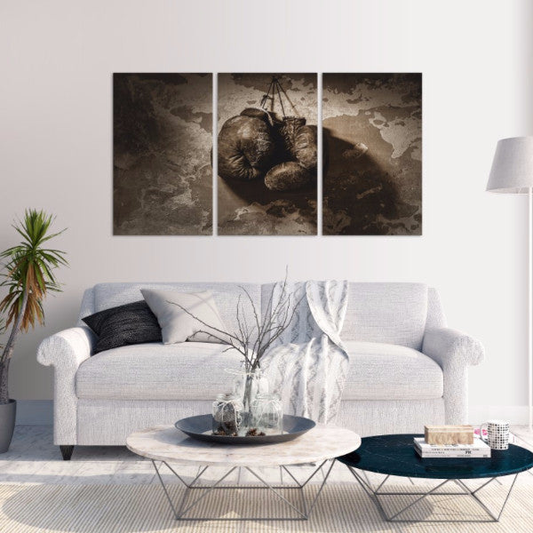 Boxing Gloves 3 Piece Canvas