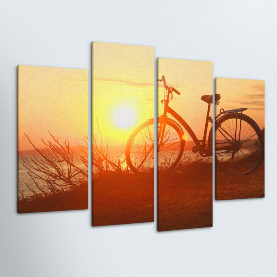 Sunset Ride 4 Piece Canvas