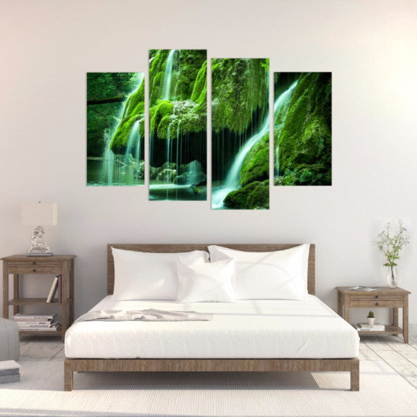 Green Oasis 4 Piece Canvas