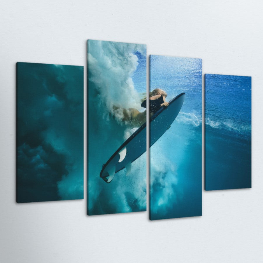 Surfer Girl 4 Piece Canvas