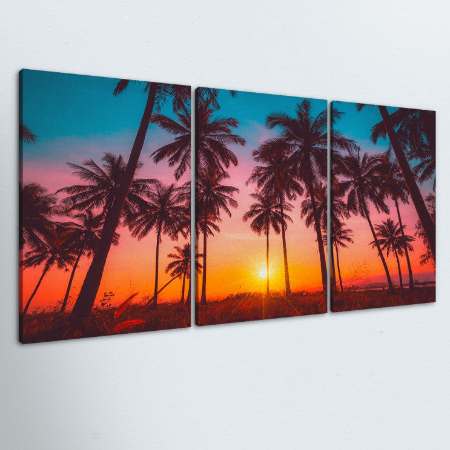 Colors Of Paradise 3 Piece Canvas