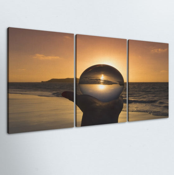 Crystal Sun 3 Piece Canvas