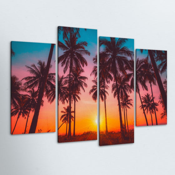 Color Of Paradise 4 Piece Canvas