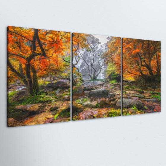 Color Of Autumn 3 Piece Canvas