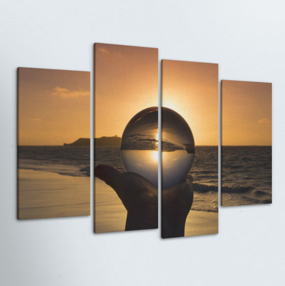 Crystal Sun 4 Piece Canvas