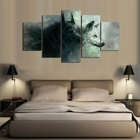 Dire Wolf 5 Piece Canvas