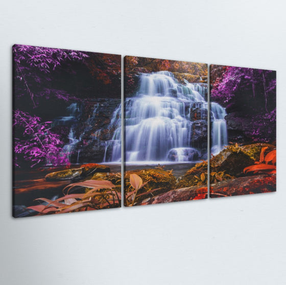 Purple Oasis 3 Piece Canvas