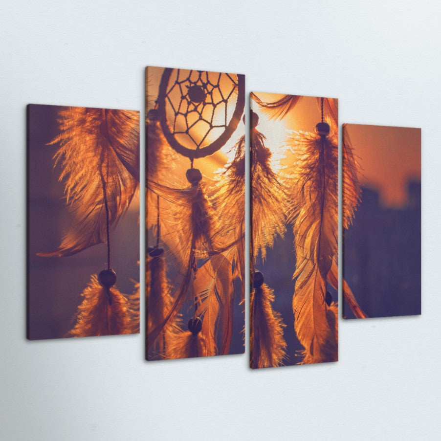 Dream Catcher 4 Piece Canvas