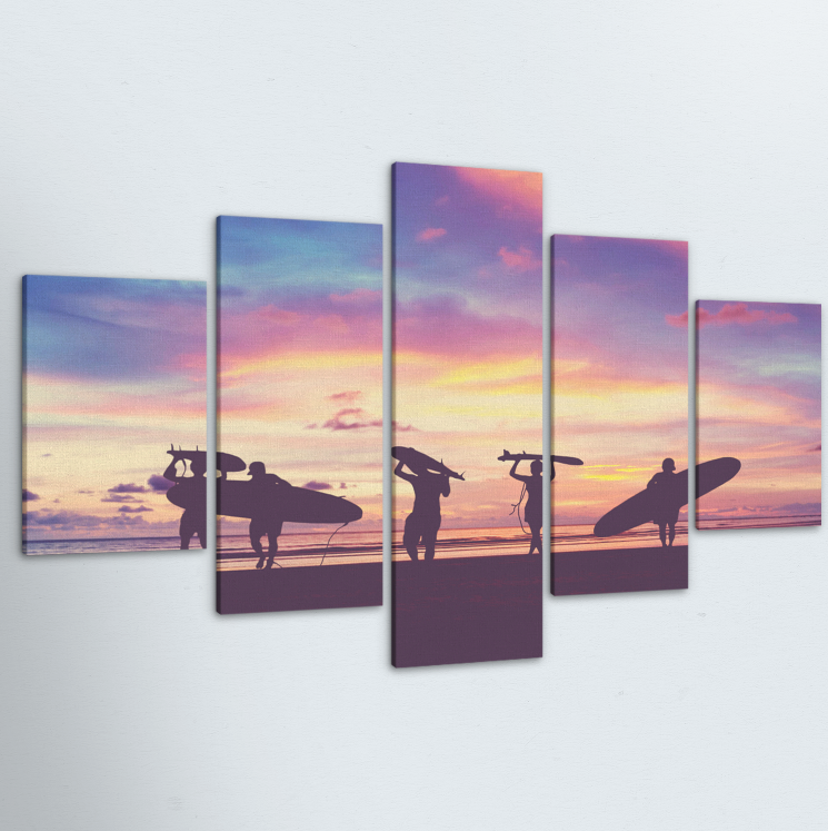 Paradise 5 Piece Canvas