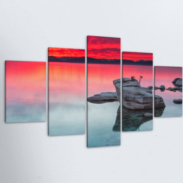 Peaceful Sunrise 5 Piece Canvas