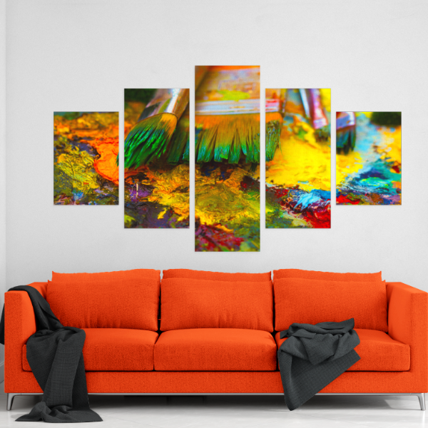 Paint Brush 5 Piece Canvas