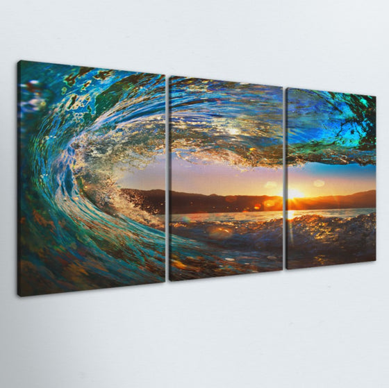 Eye Of The Wave 3 Piece Canvas