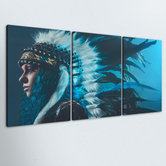Woman Of The Wild 3 Piece Canvas