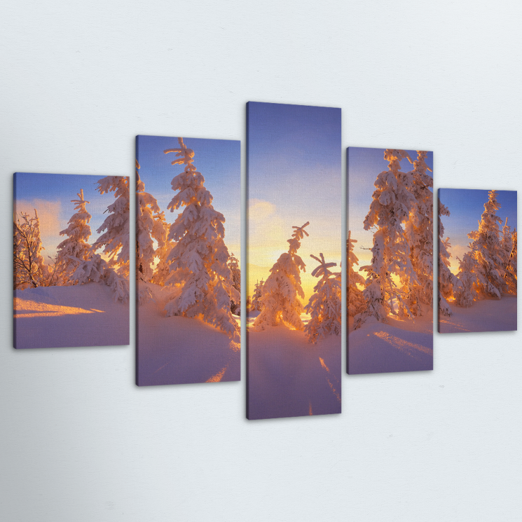 Morning Sunrise 5 Piece Canvas
