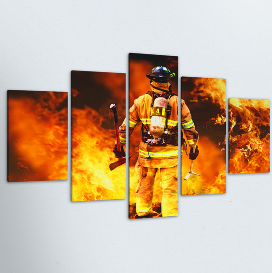 Firefighter 5 Piece Canvas