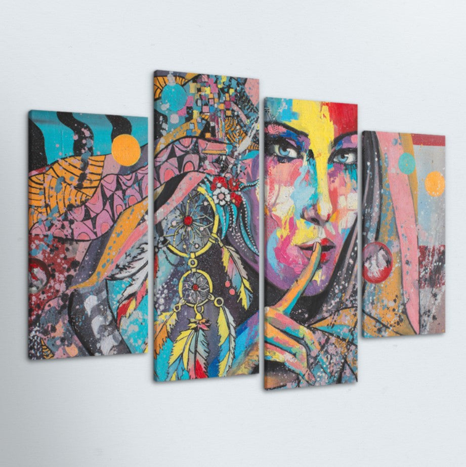 Dream Weaver 4 Piece Canvas