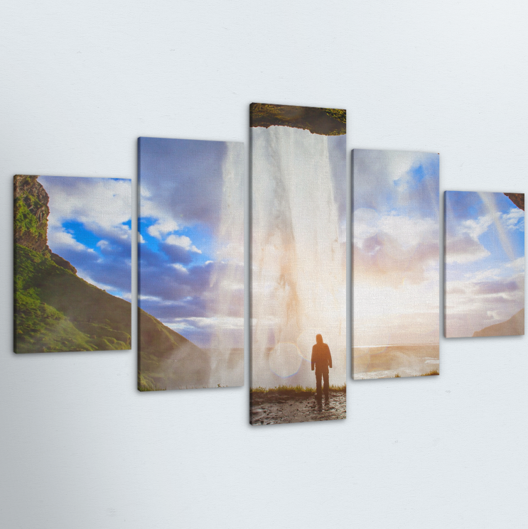 Edge Of The World 5 Piece Canvas